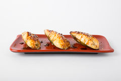 Baked mussels dish Royalty Free Stock Images