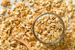 Baked Oatmeal, Almond and Honey Granola stock image