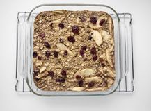 Baked Oatmeal with Apples Royalty Free Stock Images