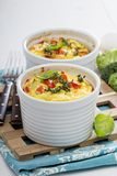 Baked omelet with vegetables Stock Images