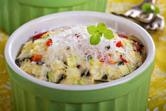 Baked omelet with vegetables Royalty Free Stock Photos
