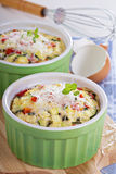Baked omelet with vegetables Royalty Free Stock Image