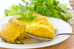 Baked omelette Stock Photography