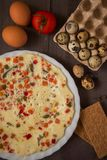 Baked omelette Stock Images