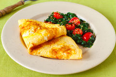 Baked omelette Royalty Free Stock Image