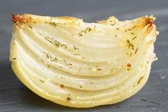 Baked onion closeup Royalty Free Stock Photo