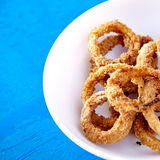 Baked onion rings snack Royalty Free Stock Photo