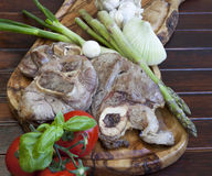 Baked Osso buco with vegetable Royalty Free Stock Photos