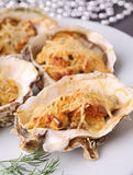 Baked oyster Royalty Free Stock Photos