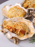Baked oyster Royalty Free Stock Photo