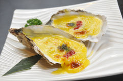 Baked oyster Stock Photos