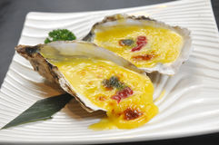 Baked oyster Royalty Free Stock Images