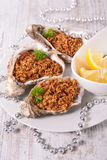 Baked oyster Royalty Free Stock Photography