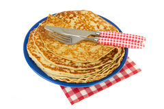 Baked pancakes Stock Images