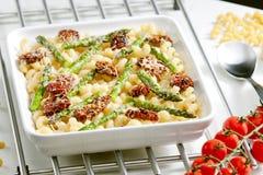 Baked pasta Stock Image