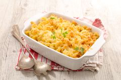 Baked pasta. With cheese and cream Royalty Free Stock Photos