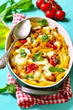 Baked pasta bolognese. Stock Images