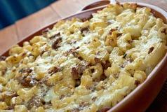 Baked pasta casserole Royalty Free Stock Photography