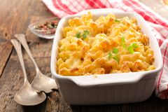 Baked pasta. With cheese and cream Royalty Free Stock Images