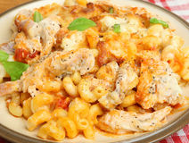 Baked Pasta with Chicken Meal Royalty Free Stock Image