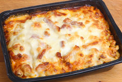 Baked Pasta Convenience or Ready Meal Royalty Free Stock Image