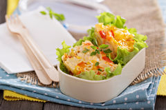 Baked pasta with egg and vegetables Royalty Free Stock Images