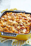 Baked pasta with ham Stock Photography