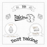 Baked pastry cakes and traditional brean food Royalty Free Stock Photos