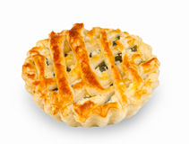 Baked pastry with spinach Stock Image