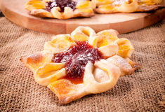 Baked pastry Stock Images