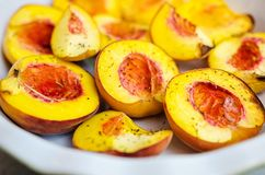 Baked peaches Royalty Free Stock Images