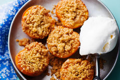 The baked peaches Stock Photos