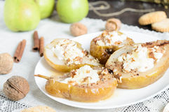 Baked pear Stock Images