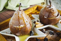 Baked pears Royalty Free Stock Images