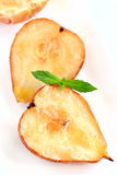 Baked pears and apples Stock Photos