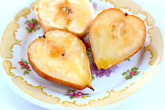 Baked pears and apples Royalty Free Stock Images