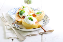 Baked pears Stock Image