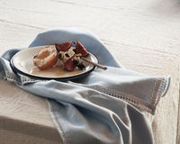 Baked pears in wine with figs and star anise Royalty Free Stock Photo
