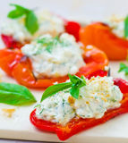 Baked pepperwith goat cheese Royalty Free Stock Photo
