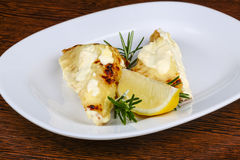 Baked perch fillet Stock Photography