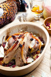 Baked pheasant Royalty Free Stock Images