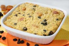 Baked pie with raisins Stock Photo
