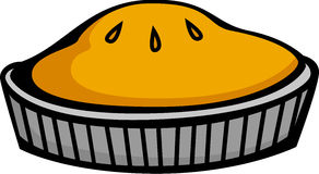 Baked pie vector illustration. Vector illustration of a baked pie Royalty Free Stock Images