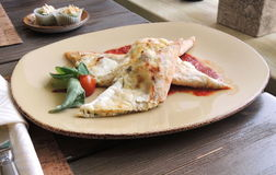 Pita bread with cheese Royalty Free Stock Images