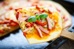 Baked pizza Stock Image
