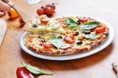 Baked pizza Stock Photos