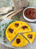 Baked polenta with tomatoes Royalty Free Stock Image