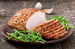 Baked pork Royalty Free Stock Images