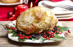 Baked pork with dried plums Stock Photography