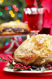Baked pork with dried plums Royalty Free Stock Image